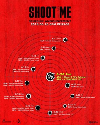DAY6が26日新しいミニアルバム「Shoot Me:Youth Part 1」でカムバック!