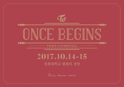 TWICEファンミーティング「ONCE BEGINS」