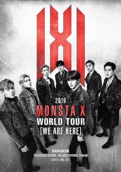 MONSTA X バンコクコンサートチケット代行ご予約受付開始!