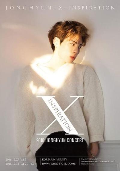 SHINEE ジョンヒョン ソロコンサート[JONGHYUN - X - INSPIRATION]