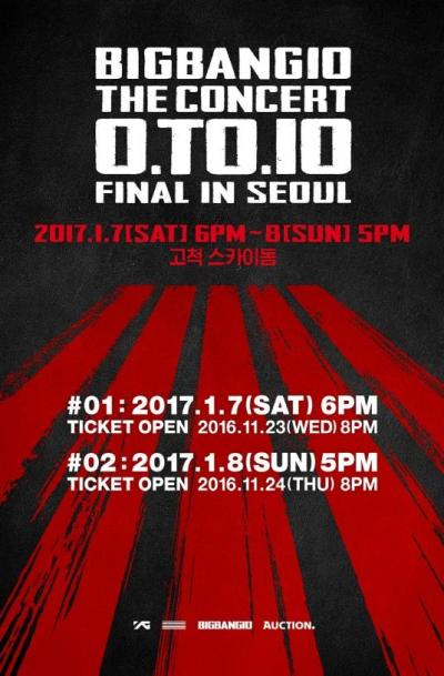 BIGBANG10周年コンサートFINAL IN SEOUL