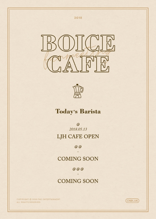 CNBLUE SPECIAL FANMEETING <BOICE CAFE : LJH CAFE>