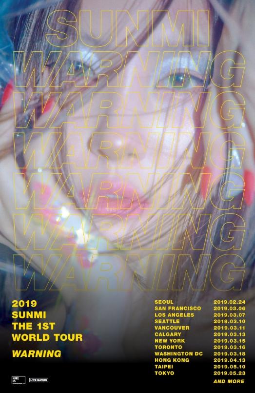 2019 선미 THE 1st WORLD TOUR [WARNING] チケット代行