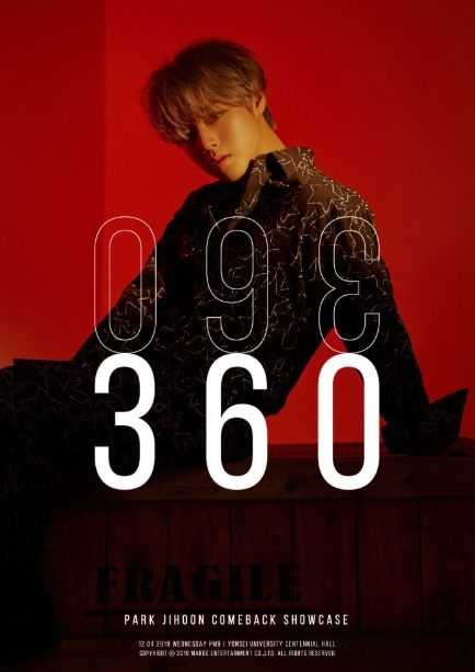 PARK JI HOON 2nd MINI ALBUM 360 SHOWCASE
